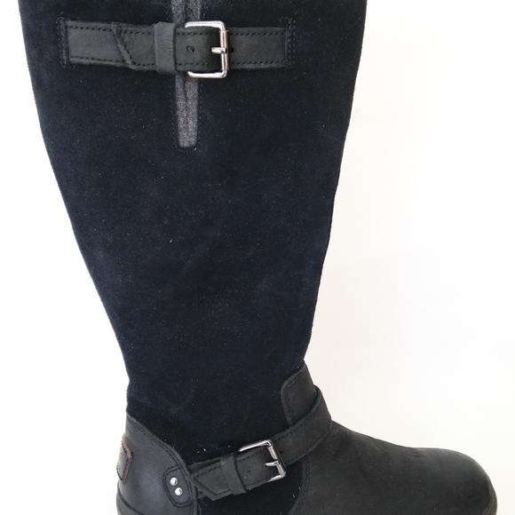 d9f58ea4cab UGG Australia Thomsen Black Leather Women's 6.5